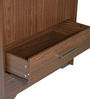 Nareshi Two Door Wardrobe with Two Drawers in Dark Walnut Finish by Mintwud