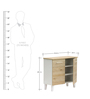 Two Doors Shoe Cabinet by Marco