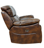 Two Seater Motorized Half Leather Recliner in Mocha Colour by Star India