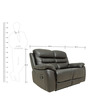 Two Seater Motorized Recliner Sofa in Half Leather Dark Brown Colour by Star India