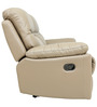 Two Seater Recliner Sofa in Half Leather Taupe Colour by Star India