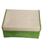 UberLyfe Green Polyester and Cardboard  12 Cell Divider Storage Box with Lid