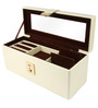 UberLyfe Cream Leather Jewellery Box