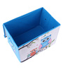 UberLyfe Blue Foldable Kids Storage and Toy Box - Set of 2 (Design - Owls & Fox)