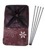 Uberlyfe Floral Pattern Polyester 62 L Brown Foldable Laundry Basket Cum Organiser