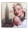 UberLyfe Large Foldable Ottoman Storage Box cum Stool - Vintage Marilyn Monroe