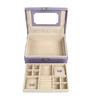 UberLyfe Travel Friendly Purple Up Leatherette Jewellery Box