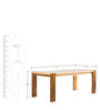 Uilli Six Seater Dining Table in Walnut Colour by Tube Style