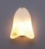 Ujjala White Murano Glass Wall Lamp