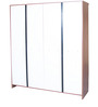 Ultima Four Door Wardrobe with Mirror in walnut Colour by HomeTown