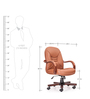 Ultra Medium Back Chair in Brown Colour by Durian
