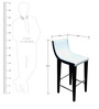 Ultra Modern Bar Chair in Solid Wood by Phinza Furniture