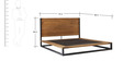 Urban Chic Industrial Queen Bed in Brown Colour by Asian Arts