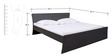 Urban Queen Size Bed in Wnge Colour by Pine Crest