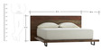 Urban Vintage Style Queen Bed in Brown Colour by Asian Arts