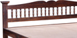 Uttara Handcrafted Queen Size Bed in Provincial Teak Finish by Mudramark