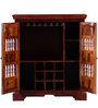 Asava Small Bar Cabinet in Honey Oak Finish by Mudramark