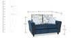 Valencia Two Seater Sofa with Throw Cushions in Blue Colour by Urban Living