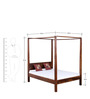 Savannah Queen Size Poster Bed In Honey Oak Finish by Woodsworth