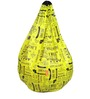 Printed Bean Bag Cover in Yellow Colour by Orka
