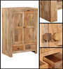 Ontario Small Solid Wood Wardrobe in Natural Finish by Woodsworth