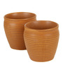 VarEesha Brown Ceramic 150ML Kulhad - Set of 6