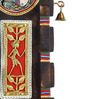 Vareesha Brown Wood Tribal Design handcrafted Key Holder