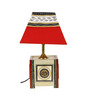 VarEesha Dhokra Multicolour Terracotta & Fabric Table Lamp