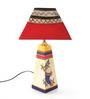 VarEesha Red Fabric Table Lamp