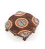 Vareesha Multicolor Wooden Hand Painted Pooja Chowki