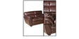Vega Leatherette Two Seater Sofa in Rust Colour by HomeTown