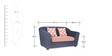 Venice Two Seater Sofa in Blue Colour by Urban Living