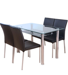 Vento Metal Four Seater Dining Set by HomeTown