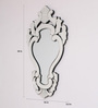 Colin Decorative Mirror in Silver by Amberville