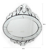 Baggott Decorative Mirror in Silver by Amberville