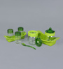 Herevin Venezia Table Set - 2 Sauce Spice Jars & 2 Spice Shakers & Toothpick Holder