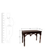 Constantine Montego Legged Console Table in Espresso Walnut Finish by Amberville