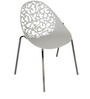 Elegantly Designed White VisitorChair by Ventura