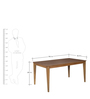 Venus Six Seater Dining Table in Walnut Finish by Godrej Interio