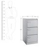 Vertical Filing Cabinet with Filing Pockets by Eurosteel