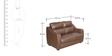 Vida Two Seater Sofa in Burgundy Colour by Godrej Interio