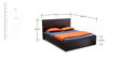 Vienna Queen Bed with Hydraulic Storage in Smoke Oak Finish by Durian