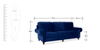 Vienna Three Seater Sofa in Blue Colour by Urban Living
