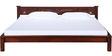 Visaya King Sized Bed in Honey Oak Finish by Mudramark