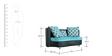 Virgo Three Seater Sofa (Support on Left Corner) by Stellar
