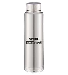 Vinod Cookware Omega Silver Stainless Steel 500 ML Bottle