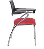 Victoria Writing Desk Chair in Red Colour by Chromecraft