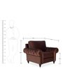 Vienna One Seater Sofa in Brown Colour by Urban Living