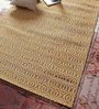 Vikram Carpets Golden Cotton & Jute 72 x 50 Inch Carpet