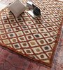 Vikram Carpets Multicolour Jute & Wool 96 x 60 Inch Hand Knotted Carpet